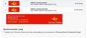 Wtyczka dodająca obsługę odbioru w punkcie Poczty Polskiej - Prestashop